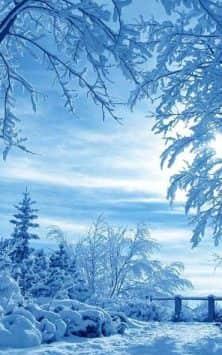 Зима Снег падает скриншот 2