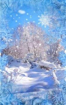 Зима Снег падает скриншот 4