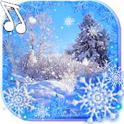 Зима Снег падает logo