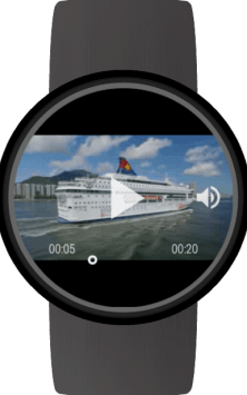 Video Gallery for Wear OS (Android Wear) скриншот 1