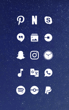 Whicons - White Icon Pack скриншот 1