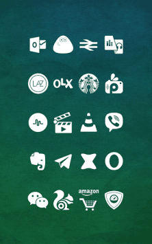 Whicons - White Icon Pack скриншот 4