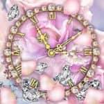 Часы с бриллиантами Live Wallpaper