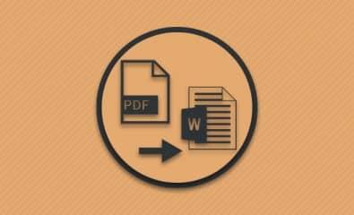 Конвертирование пдф файла в док.