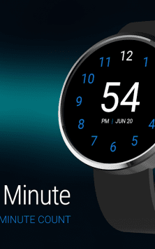 Just A Minute: Wear Watch Face скриншот 1