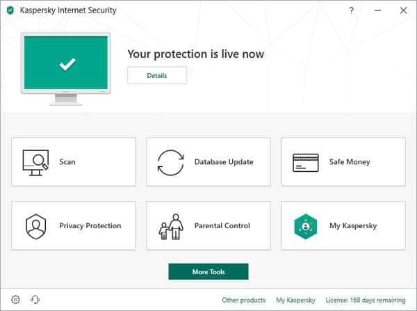 Антивирус Kaspersky Internet Security.