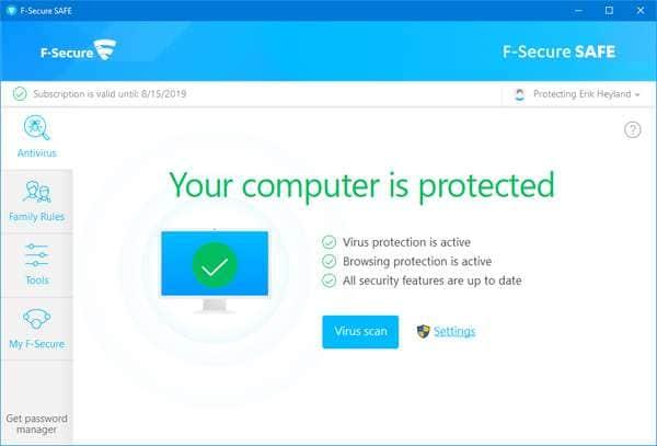 Программа F Secure SAFE.