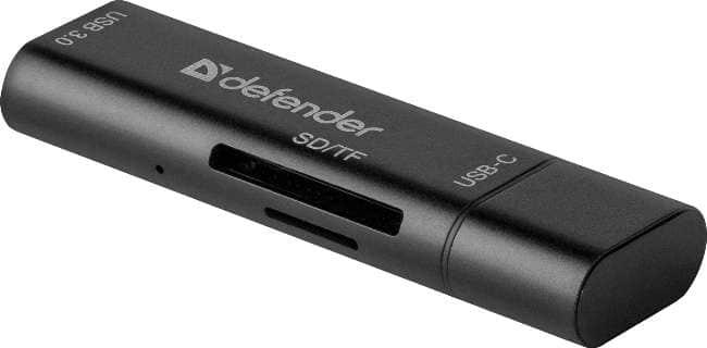 Компактный внешний картридер с поддержкой SD и MicroSD форматов.