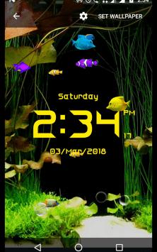 Аквариум с цифровыми часами скриншот 4