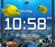 Аквариум с цифровыми часами logo