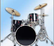 Easy Real Drums-Real Rock and jazz Drum music logo