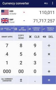 Курсы валют скриншот 1