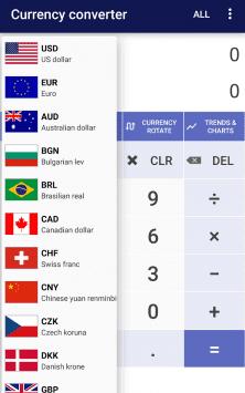 Курсы валют скриншот 2