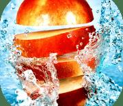 Фрукты в воде logo