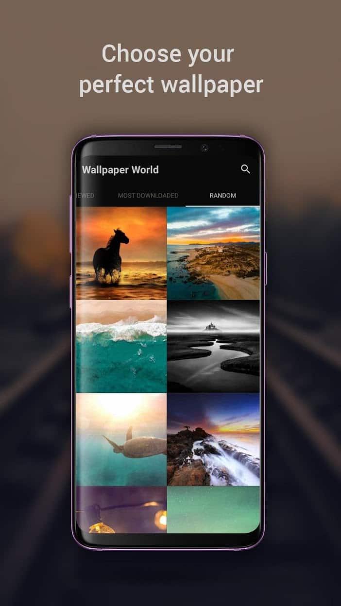 Wallpaper World: 4K, HD Backgrounds (No AD) скриншот 1
