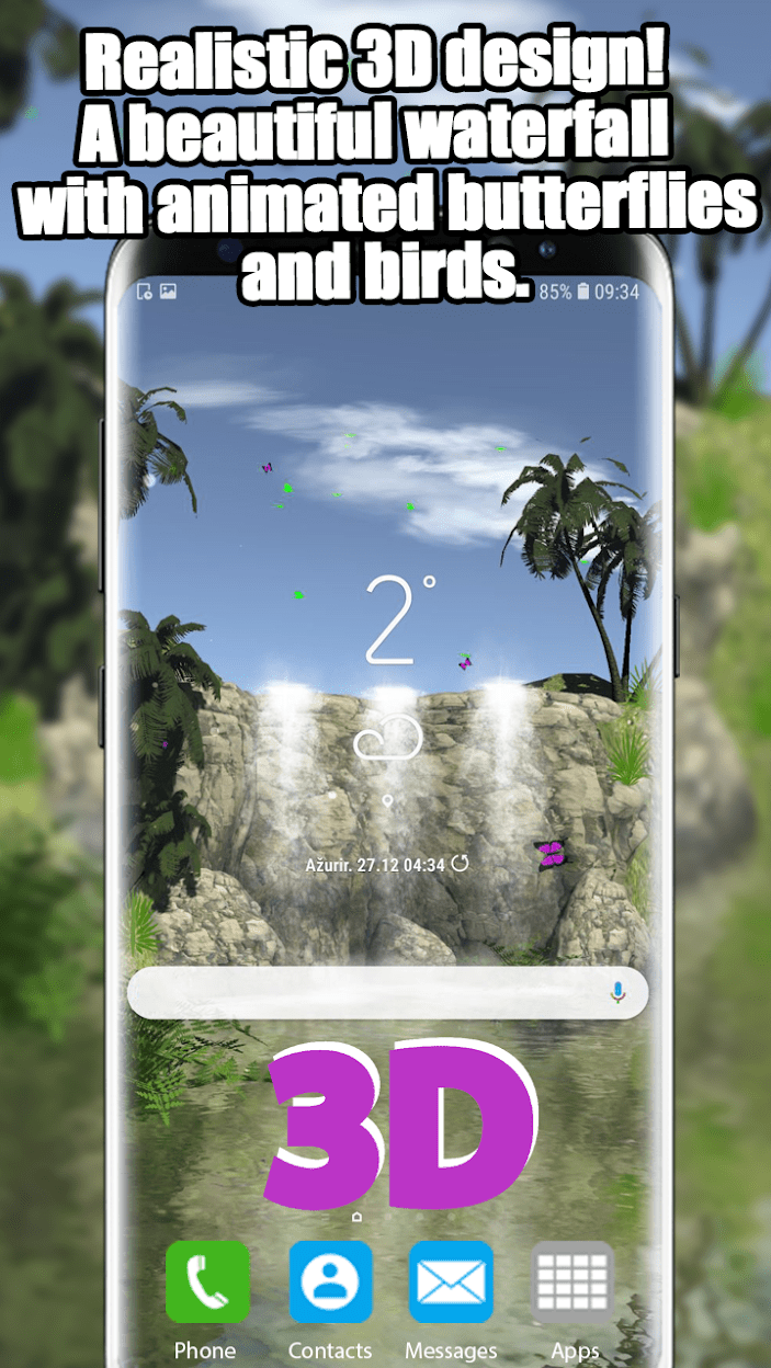 3D Водопад скриншот 1