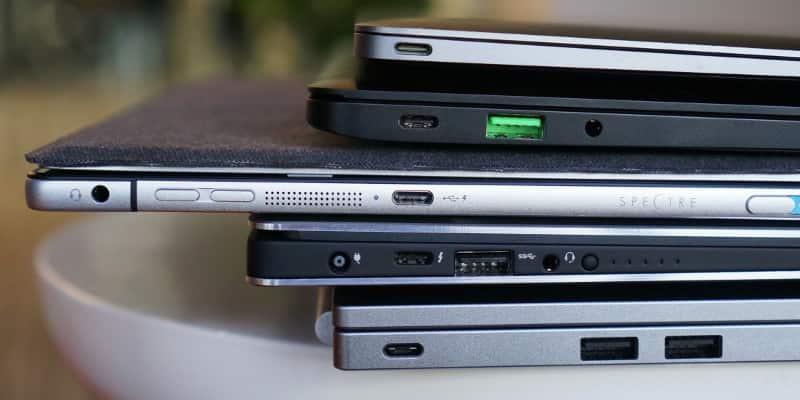 Разъем USB Type-C в ноутбуках и нетбуках.