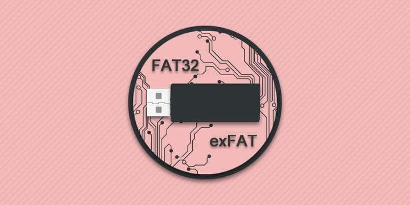exFAT и FAT32.