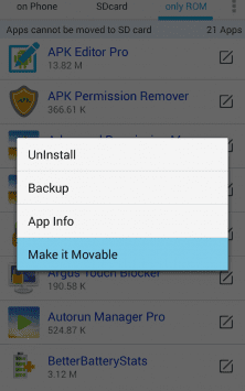 Apps Movable скриншот 2