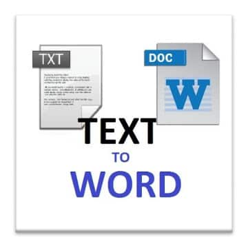 TXT TO WORD logo
