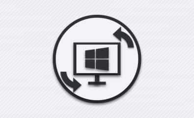 Перевернутый экран компьютера.