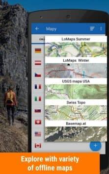 Locus Map Free - наружная GPS-навигация и карты скриншот 1