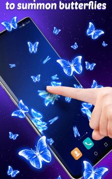 Интерактивные неоновые Бабочки скриншот 2