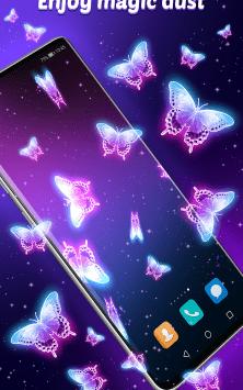 Интерактивные неоновые Бабочки скриншот 3
