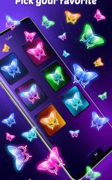 Интерактивные неоновые Бабочки скриншот 4
