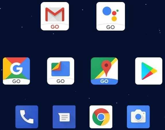 Приложения Android Go.