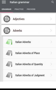 Italian grammar - Learn Italian grammar exercises скриншот 1