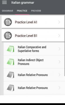 Italian grammar - Learn Italian grammar exercises скриншот 2