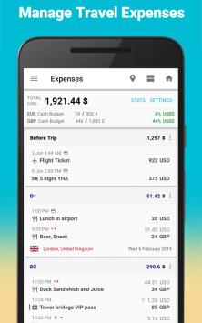 SaveTrip - Travel itinerary & Travel expenses скриншот 3