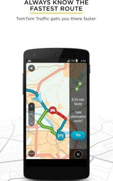 TomTom GPS Navigation - Traffic Alerts & Maps скриншот 1