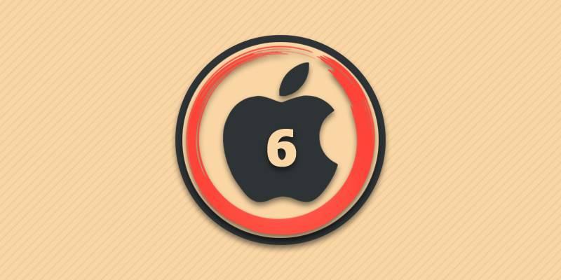 Перезагрузка айфон 6