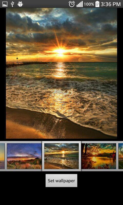 Восход солнца скриншот 2