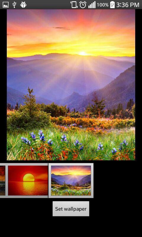 Восход солнца скриншот 3