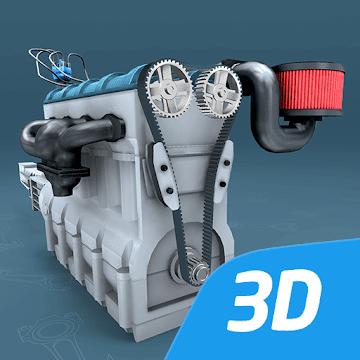 Четырёхтактный двигатель Отто, интерактивное 3D ВР logo