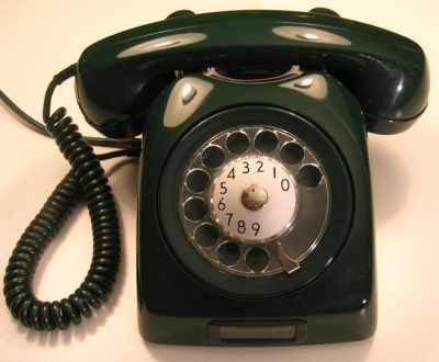 Телефон с импульсивным набором номера.