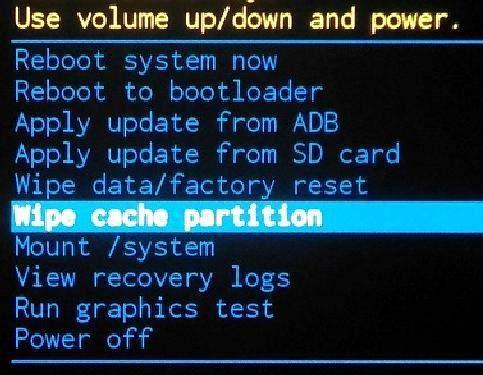 Функция wipe cache partition.