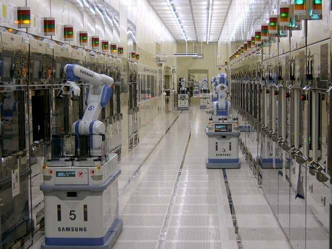 Автоматизированная фабрика Samsung.