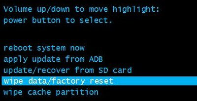 Что такое wipe data factory reset.