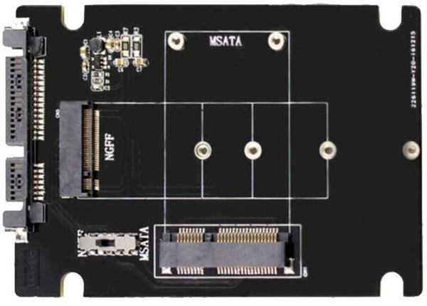 Переходник для m.2 и mSATA для подключения через интерфейс SATA.