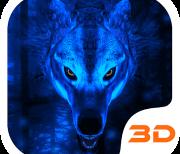 Волк 3D интерактивная тема logo