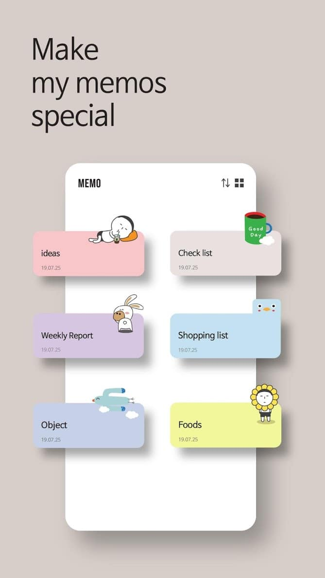 Cute Note - DDay Todo скриншот 2