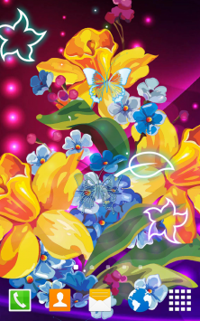 Абстрактные цветы скриншот 1