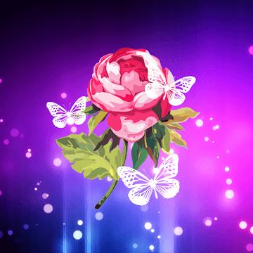 Абстрактные цветы logo