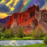 Красная гора живые обои