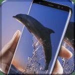Перемещение голубых дельфинов Live Wallpaper