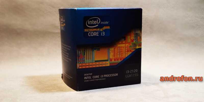 Упаковка боксового процессора производства Intel.